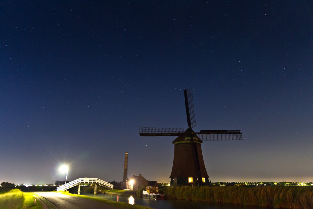 Windmill in the Night 1